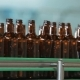 Dark Glass Bottles On The Conveyor - VideoHive Item for Sale