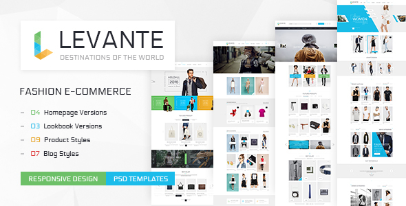 Levante – Clean Shop PSD Templates