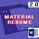 Material Resume with MS Word - GraphicRiver Item for Sale