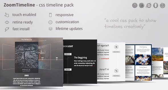 ZoomTimeline - CSS Timeline Pack - CodeCanyon Item for Sale