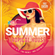 Summer Tropical House Flyer Template - GraphicRiver Item for Sale