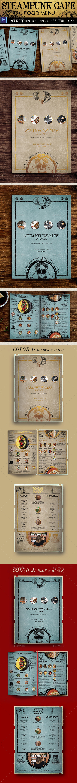 Steampunk Cafe Food Menu