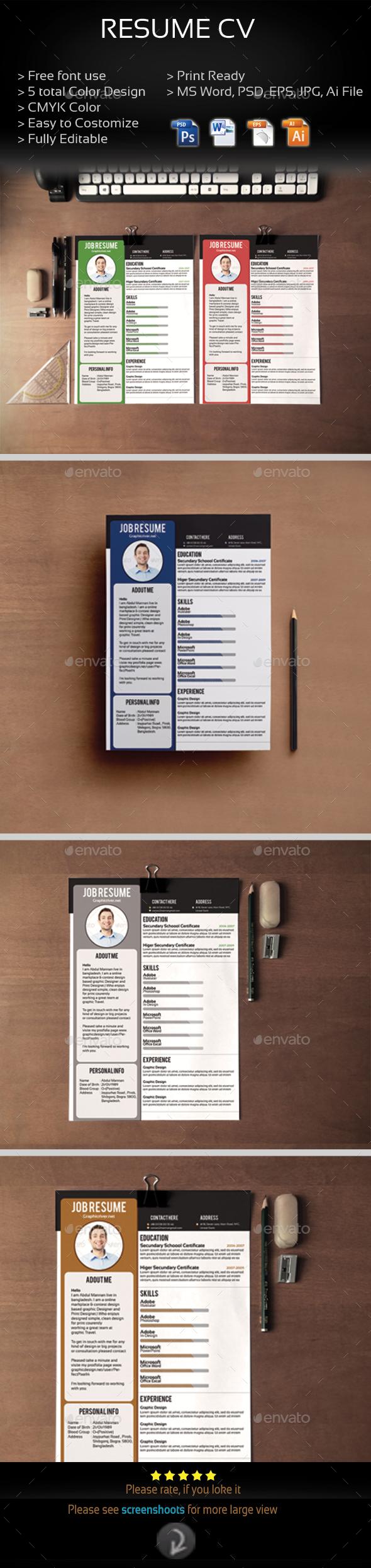 Job Resume - Resumes Stationery