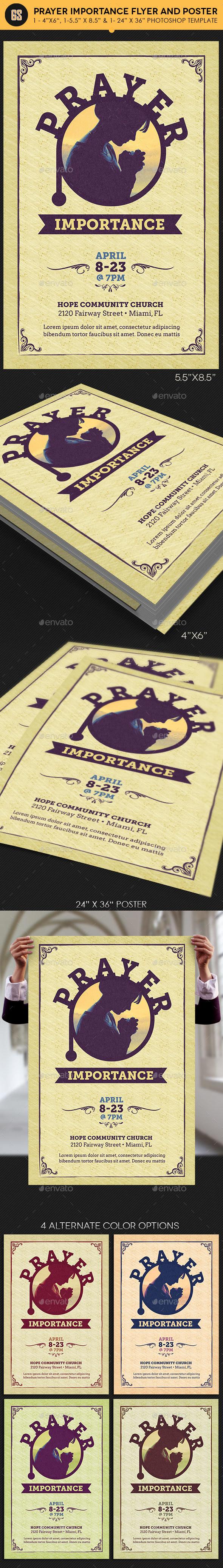 Prayer Importance Flyer Poster Template - Church Flyers
