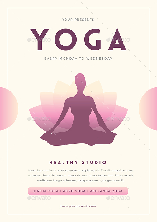 Yoga Flyer By Guuver  Graphicriver