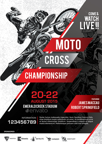 motocross flyer by monggokerso
