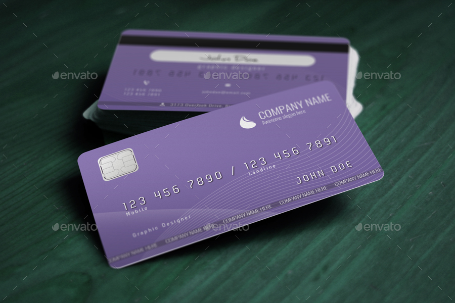 Credit Card Style Business Card by FBalint | GraphicRiver