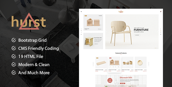 Hurst - eCommerce Furniture Template - Shopping Retail