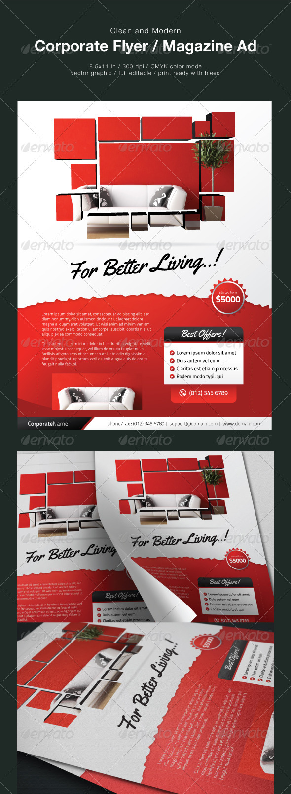 Clean Corporate Flyer / Magazine Ad - Corporate Flyers