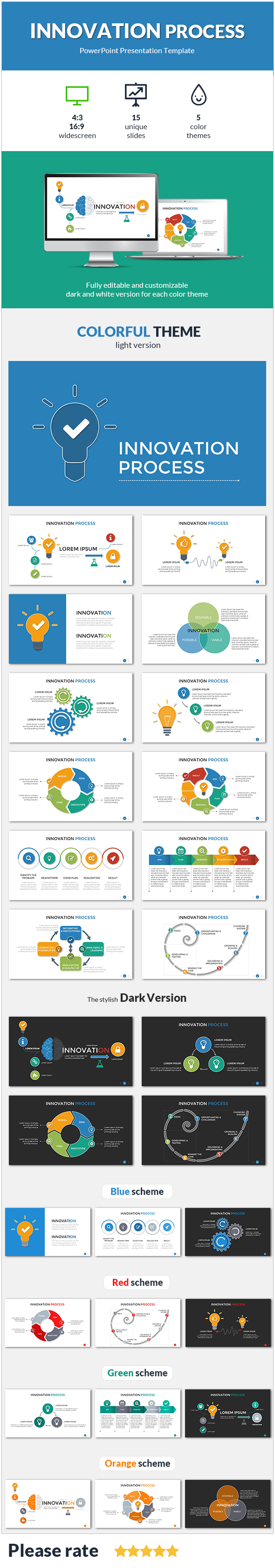 Innovation process presentation template by sananik graphicriver innovation process presentation template powerpoint templates presentation templates toneelgroepblik Choice Image