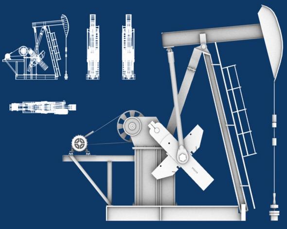 Oil Pumpjack - 3DOcean Item for Sale