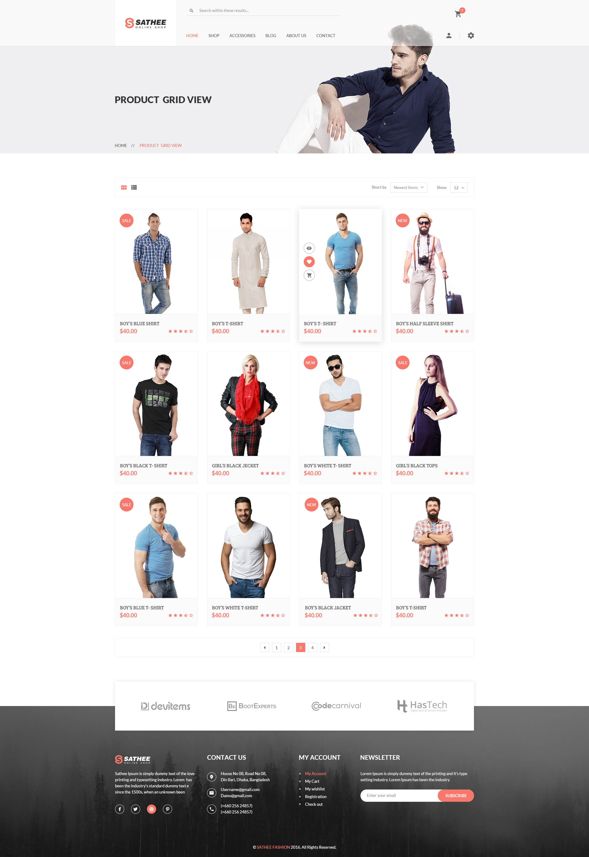 Sathee e merce PSD Template by DevItems