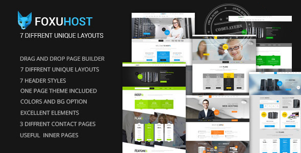 FoxuhHost – Shop, Corporate & Web Hosting WordPress Theme + WHMCS