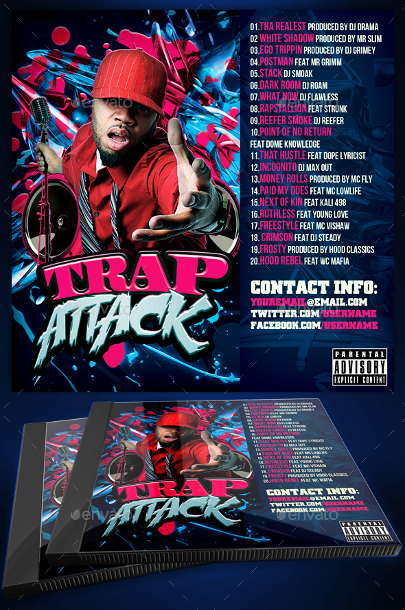 Mixtape / CD Cover Template - Trap Attack by Yellow_Emperor ...
