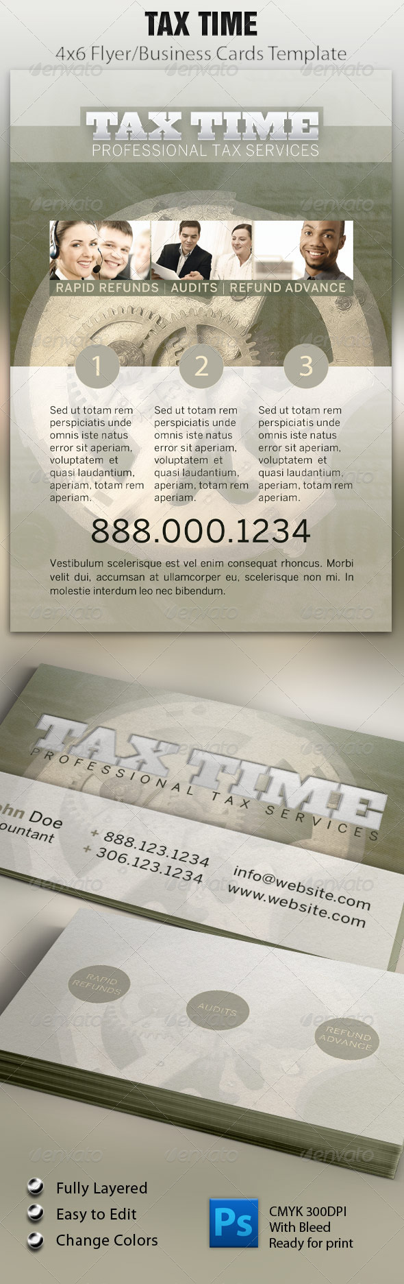 Tax Time Flyer & Business Card - Corporate Flyers