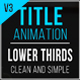 Title Lower Thirds - VideoHive Item for Sale