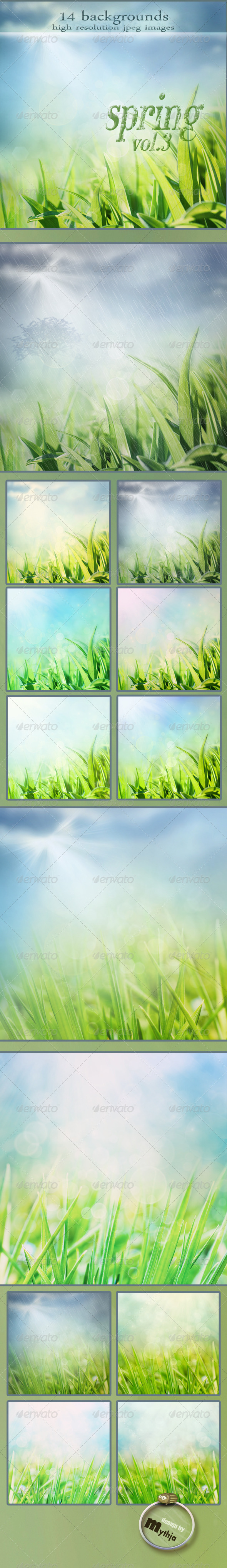 Nature Spring Backgrounds with Bokeh Effect vol.3 - Abstract Backgrounds