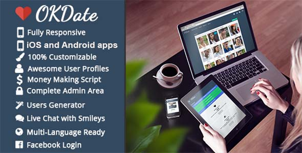 OKDate - Complete Dating Platform: Website, iOS/Android Apps, Backend - CodeCanyon Item for Sale