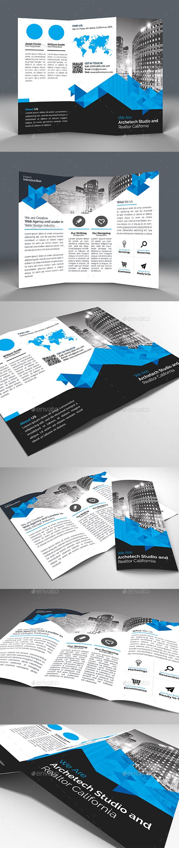 Modern Tri Fold Real Estate Brochure - Corporate Brochures
