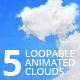 5 Animated Loopable Clouds - VideoHive Item for Sale