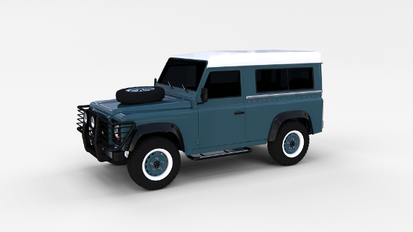 Land Rover Defender 90 Station Wagon rev - 3DOcean Item for Sale