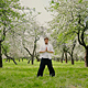 Qigong Practice in the Spring Park - VideoHive Item for Sale