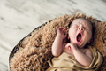 sweet newborn baby yawns - PhotoDune Item for Sale