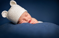Three week old newborn baby boy sleeping - PhotoDune Item for Sale