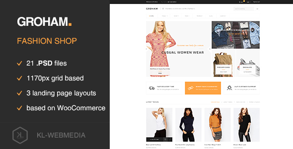 Groham – Fashion eCommerce PSD template