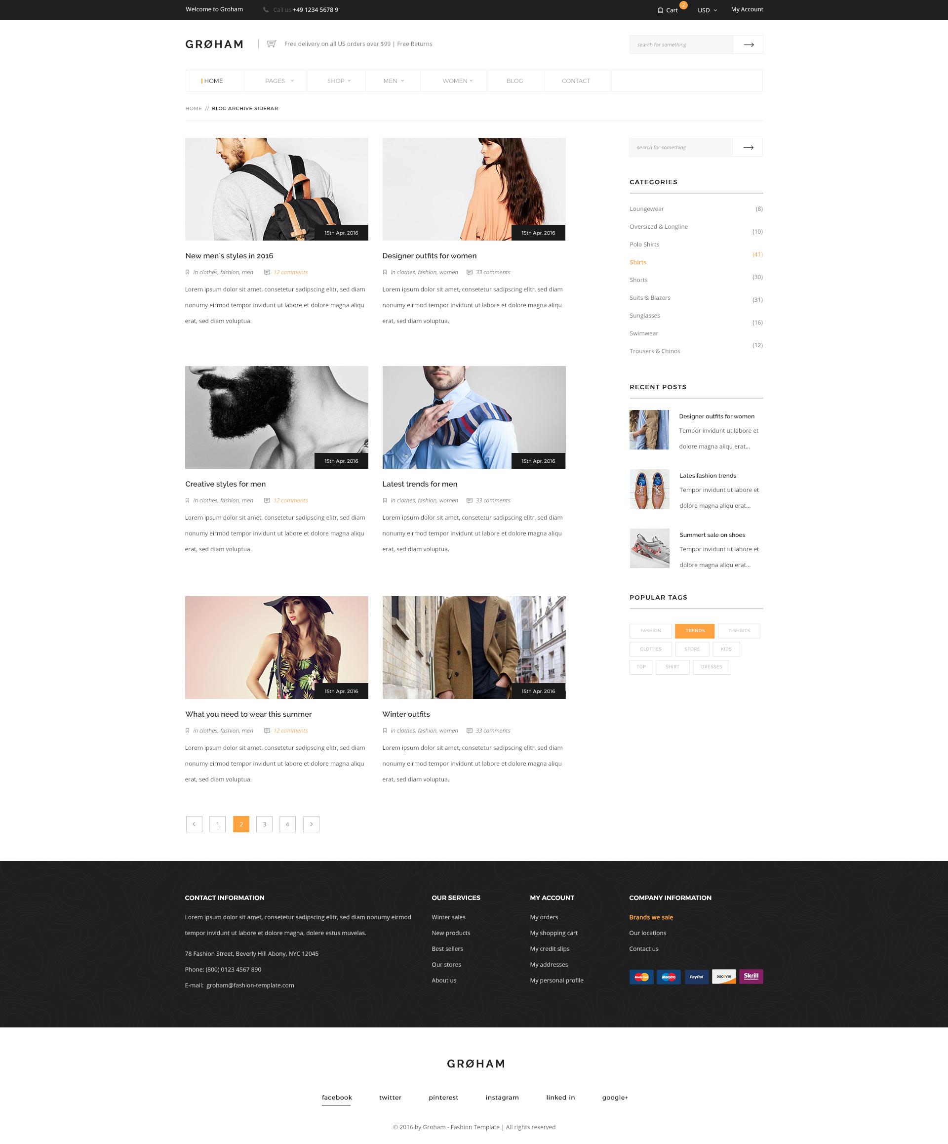 Groham - Fashion eCommerce PSD template by KL-Webmedia ...