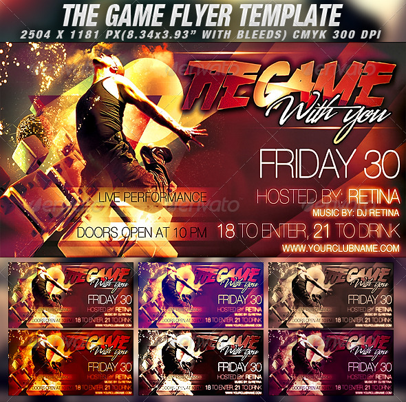 The Game Flyer Template - Clubs & Parties Events