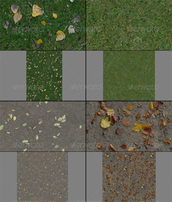 Texture Pack - Ground 001 - 3DOcean Item for Sale