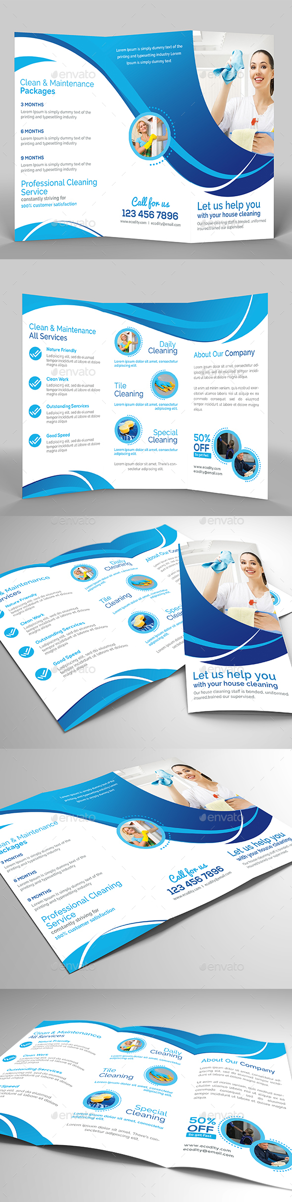 Eco - Cleaning Service - Informational Brochures
