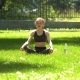 Pretty Girl Is Doing Yoga In Park. - VideoHive Item for Sale