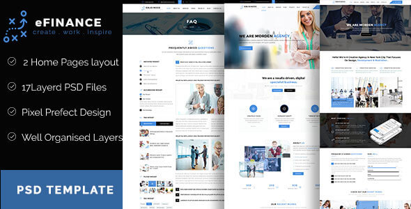 eFinance – Business and Finance PSD Template