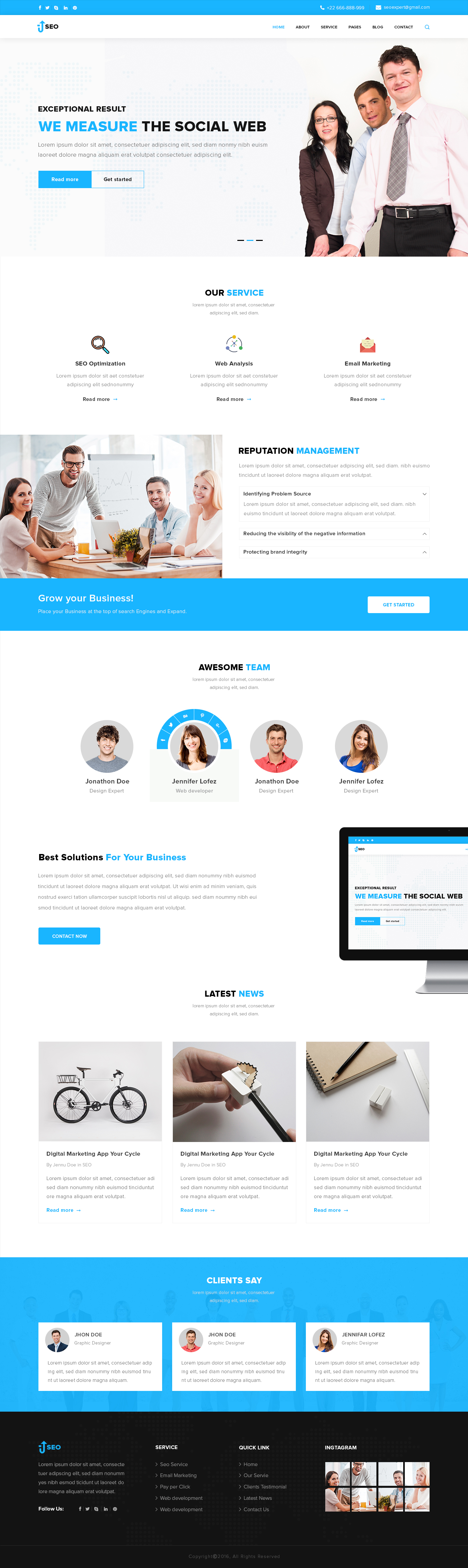 SEO – Marketing and SEO PSD Template by design-cafe | ThemeForest