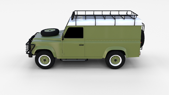Land Rover Defender 110 Hard Top w interior rev - 3DOcean Item for Sale