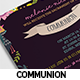 Floral Communion Invitation Card - GraphicRiver Item for Sale
