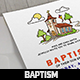 Church Baptism Invitation Card  - GraphicRiver Item for Sale