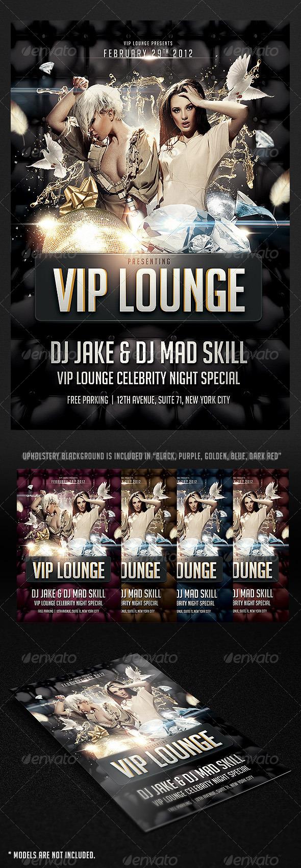VIP Lounge Flyer - Flyers Print Templates