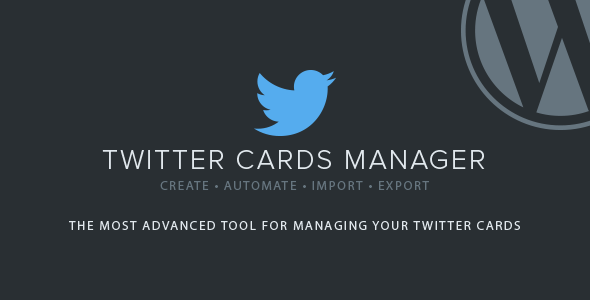 Twitter Cards Manager - CodeCanyon Item for Sale