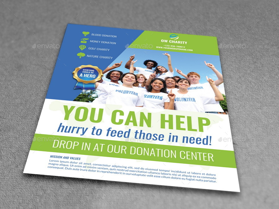 Volunteer Flyer Template  Donation Flyer Template
