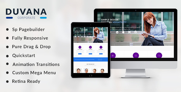 Duvana Multi-Purpose Joomla! Template