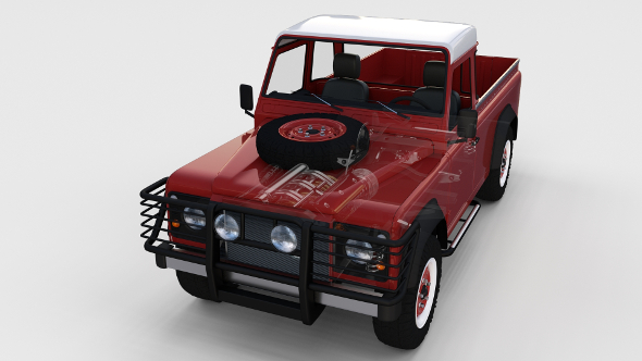 Full Land Rover Defender 110 Pick Up rev - 3DOcean Item for Sale