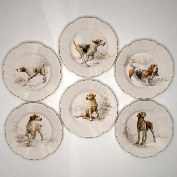 Collector Plates Hunting Dogs 1 - 3DOcean Item for Sale
