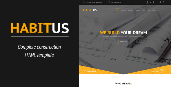 Habitus – Construction HTML Template