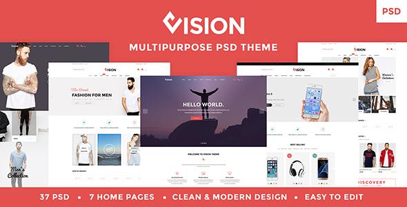 Vision - Multipurpose Store | Portfolio | Blog PSD Template - PSD Templates