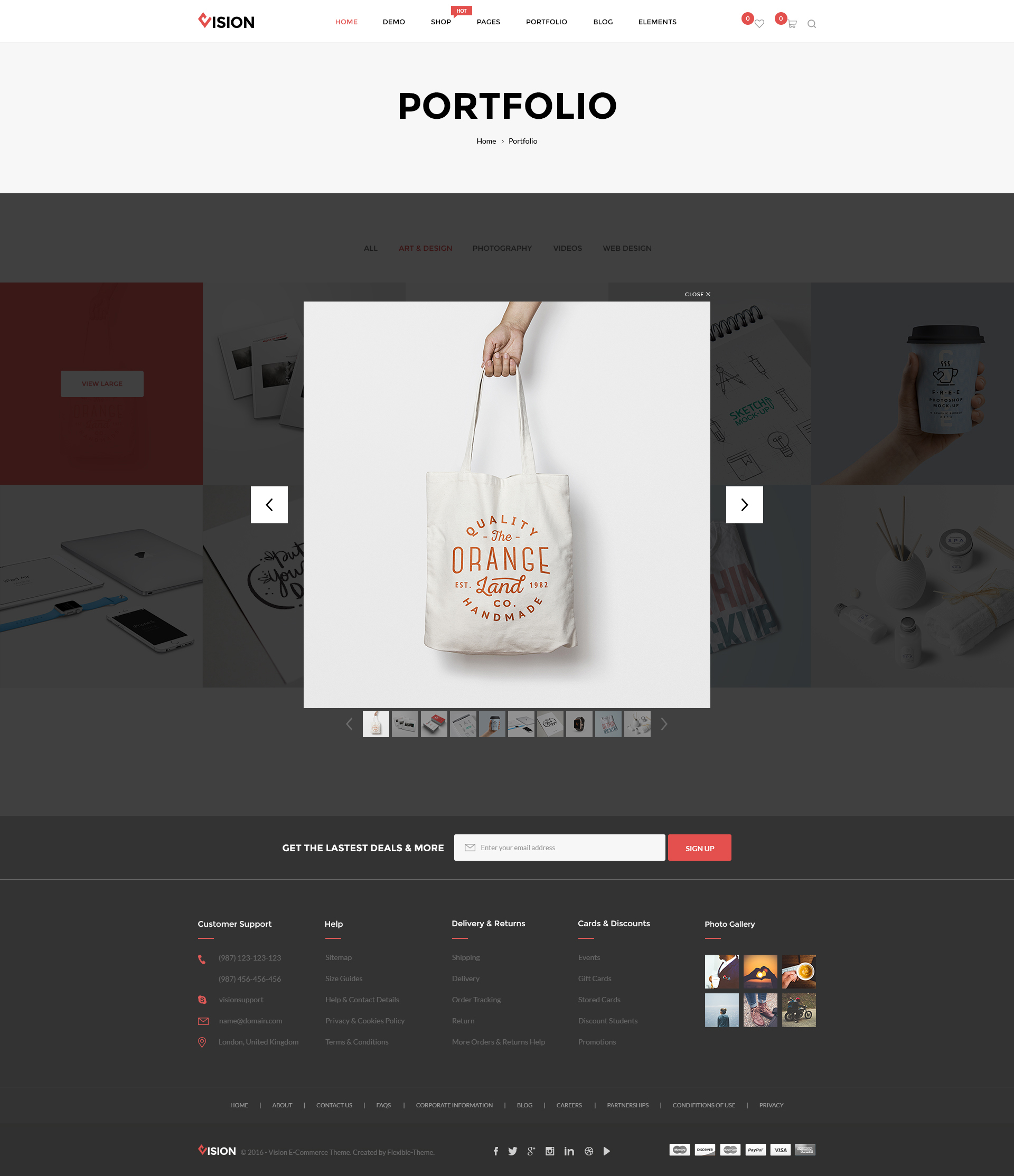 Vision - Multipurpose Store   Portfolio   Blog PSD Template by KChi