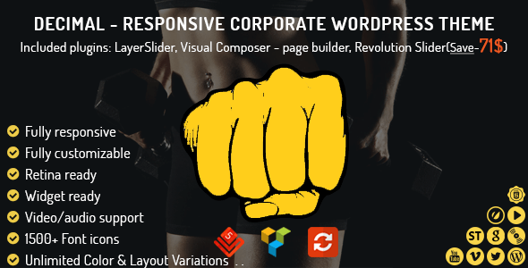 Decimal – Responsive Corporate WordPress Theme