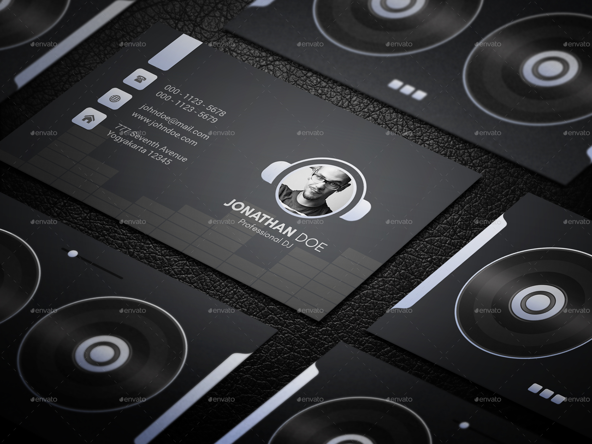 DJ & Musician Business Card by GOWES